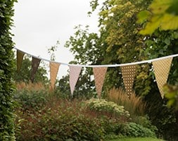 Fabric bunting - autumn hues