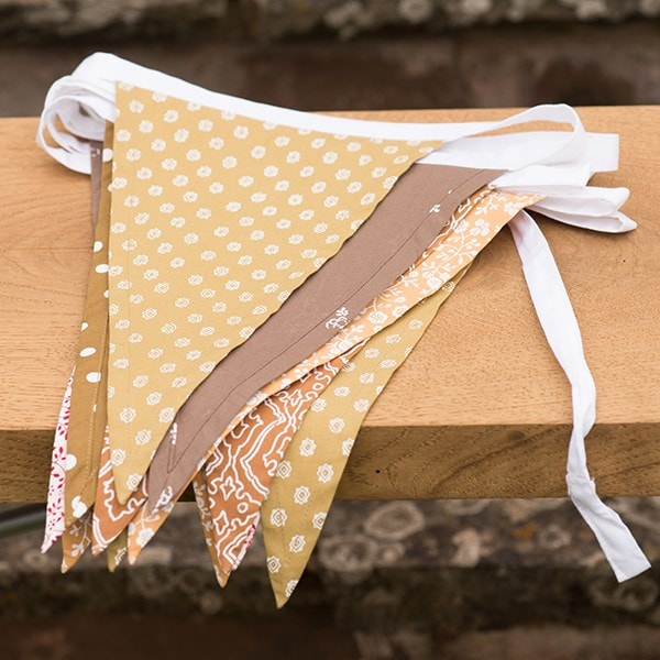Fabric bunting - autumn hues
