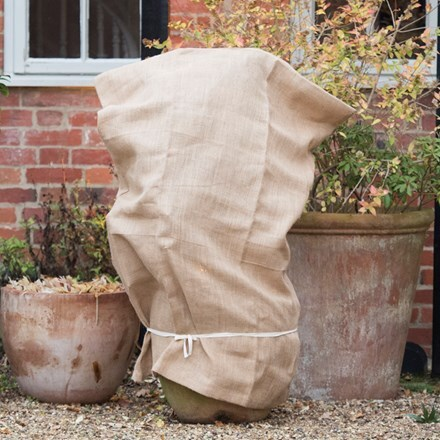 Hessian winter plant protection bag