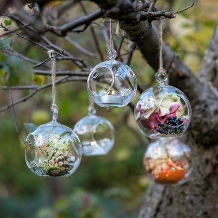 Small bauble tea light holder