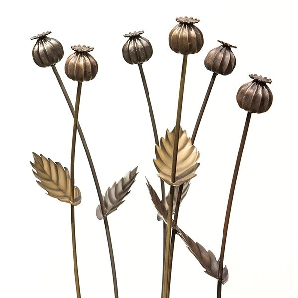 Poppy seed head stake  - tall