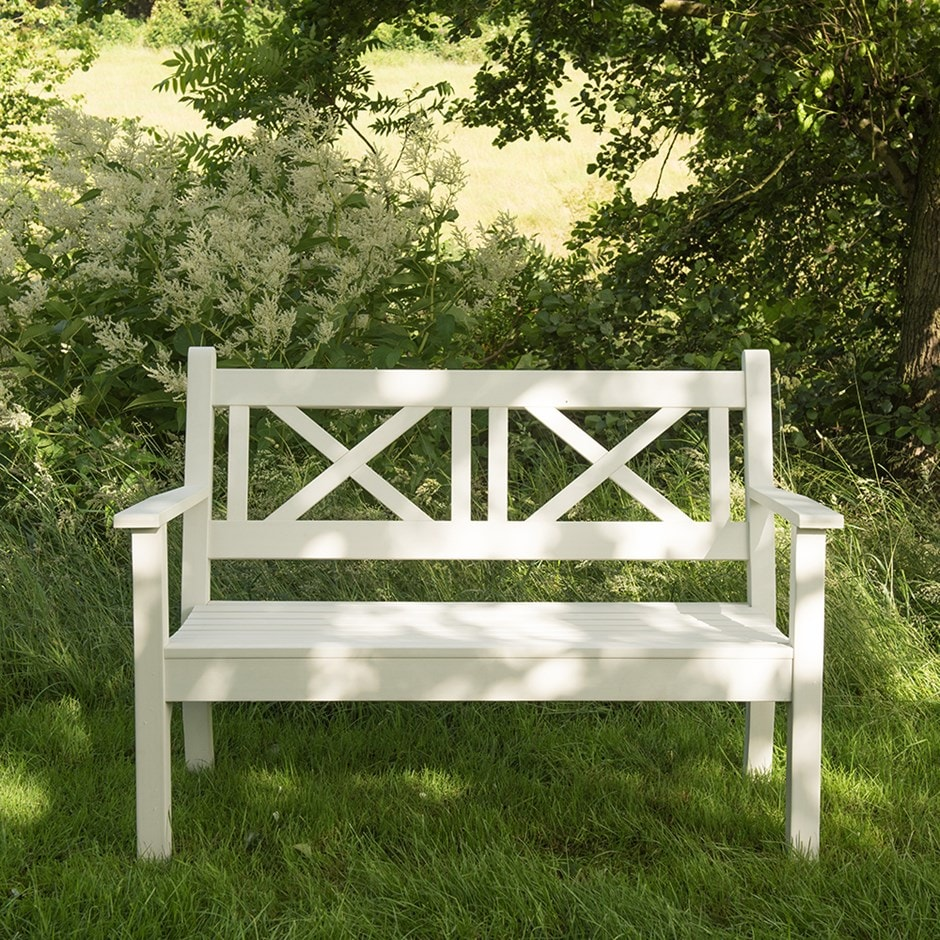 Hampton bench white