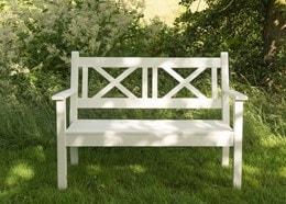 Hampton bench white