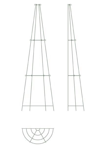 Elegant tiered metal obelisk - three tier wall