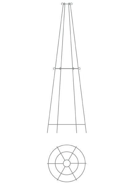 Elegant tiered metal obelisk - two tier