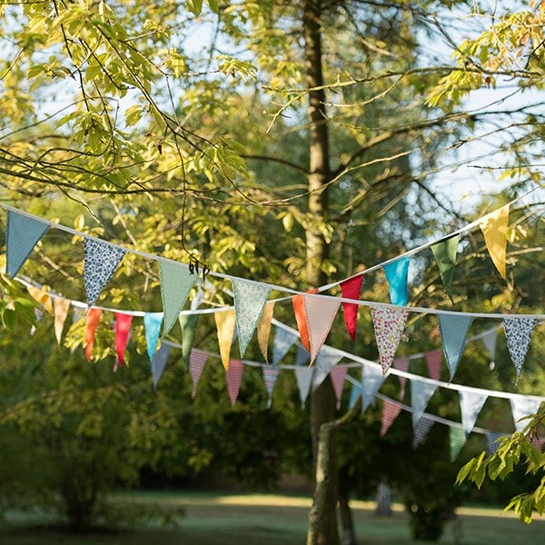 Fabric bunting - spring pastels