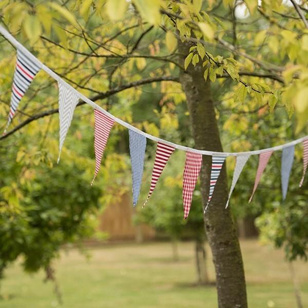 Fabric bunting - bold stripes