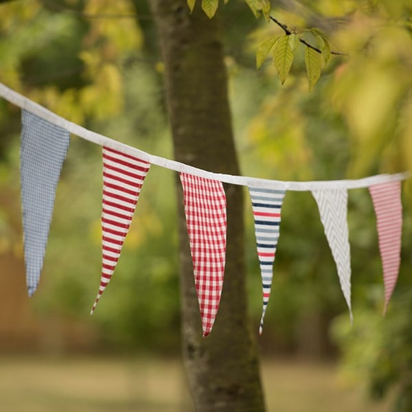 Fabric bunting - bold stripes