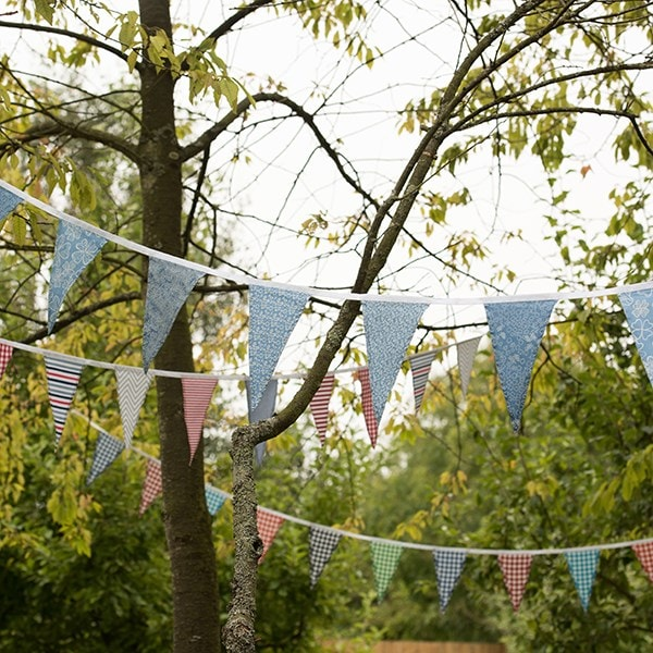 Fabric bunting - cottage florals