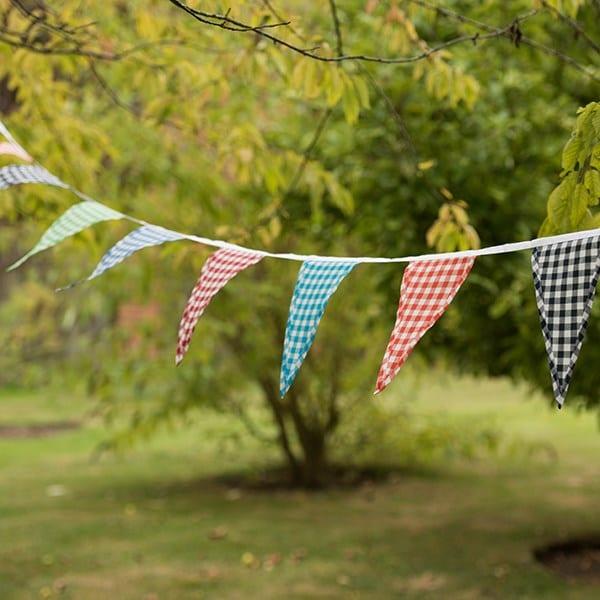 Fabric bunting - gingham