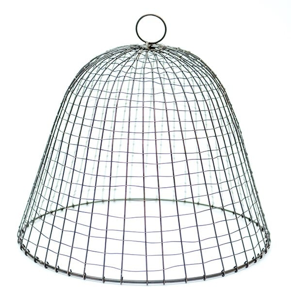 Iron wire cloche - cross