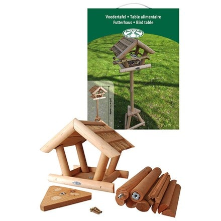 Wood & straw birdtable