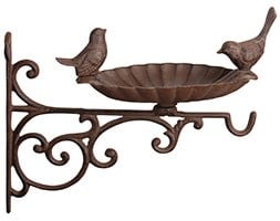 Bird bath feeder & wall bracket