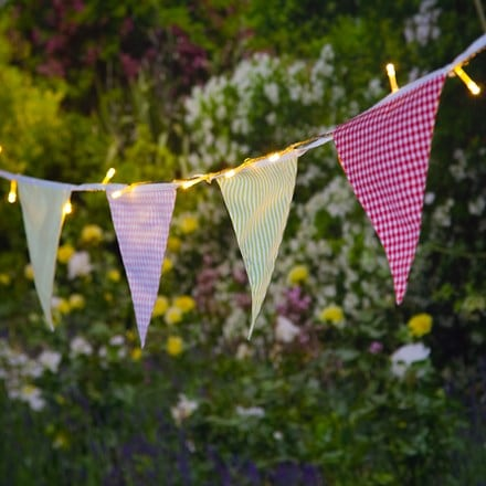 Solar 30 LED village bunting lights