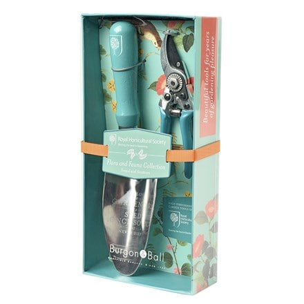 RHS Burgon and Ball flora & fauna trowel and secateurs