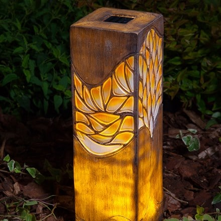 Woodland trees solar border light - large