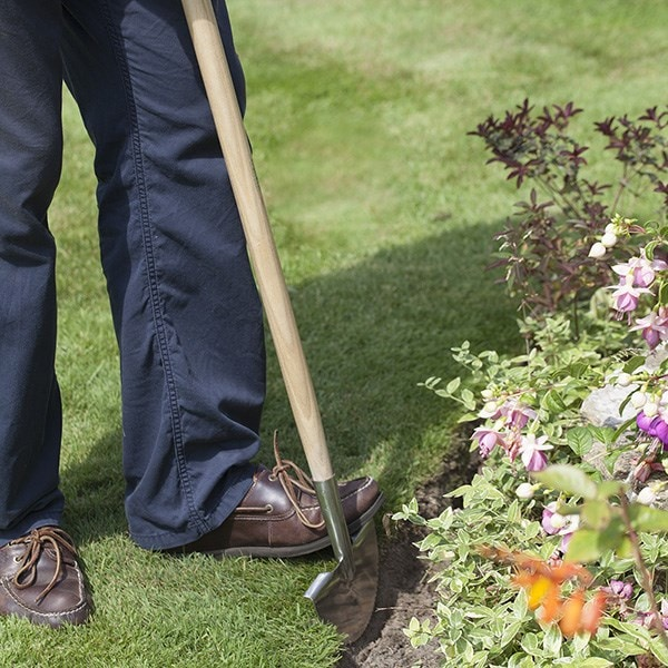 RHS Burgon and Ball stainless half moon lawn edger