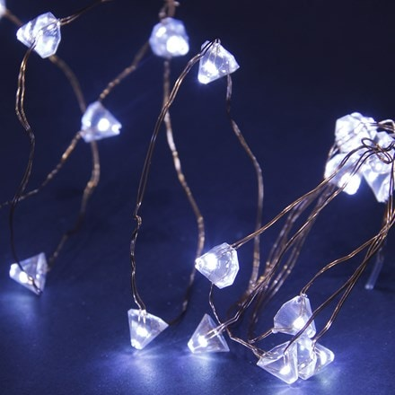 50 solar copper wire diamond multi function LEDs