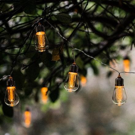 10 Edison style bulb light string