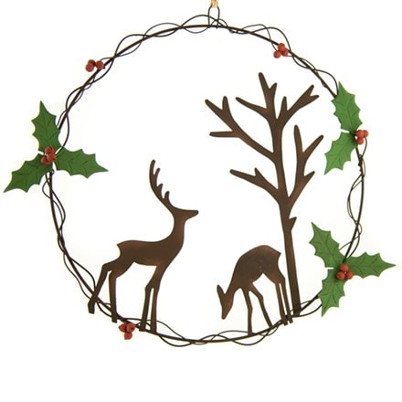 Forest scene wreath