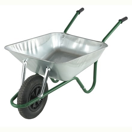 Galvanised boxed wheelbarrow
