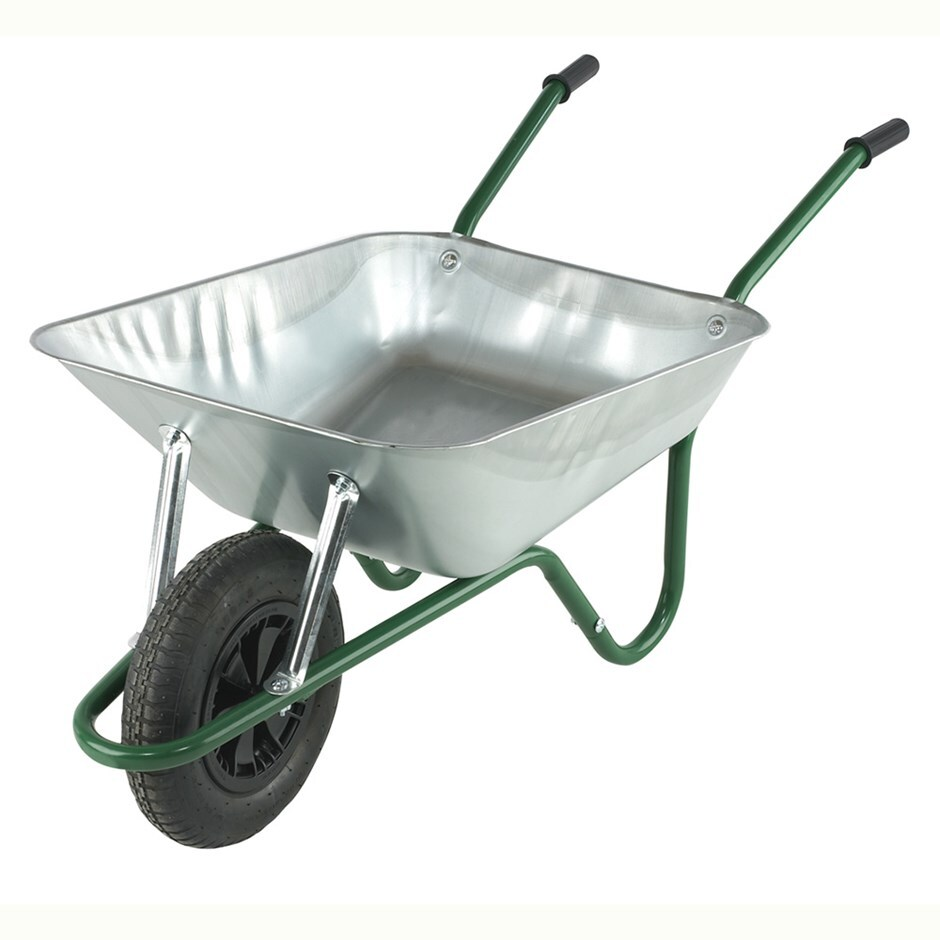 Galvanised boxed wheelbarrow