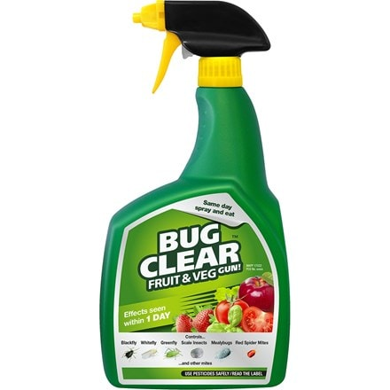Bug clear fruit and veg gun