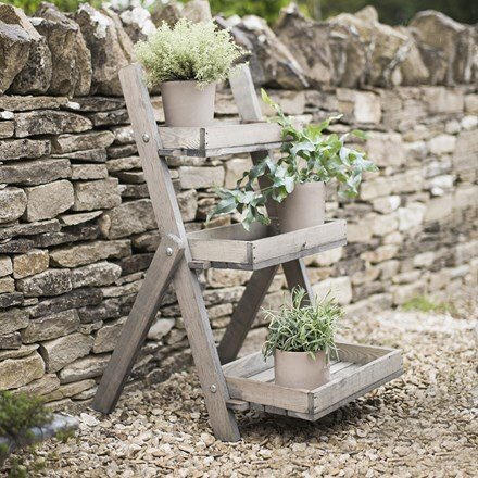 Wooden pot ladder