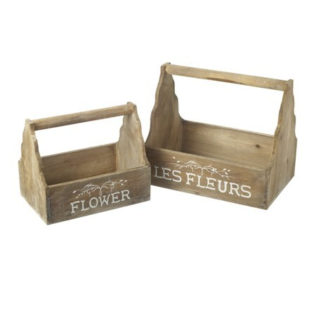 Wooden trug set