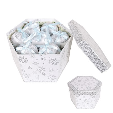 Bauble gift box  - silver