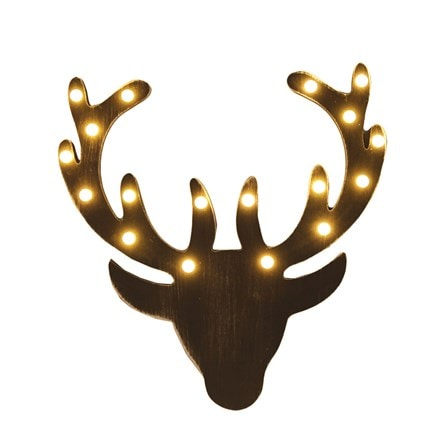 Warm white LED reindeer head