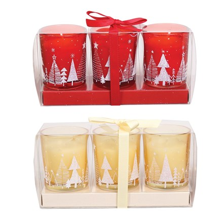 Scented votives 6cm pack of 3