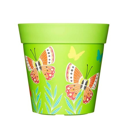 Butterflies in flight pot