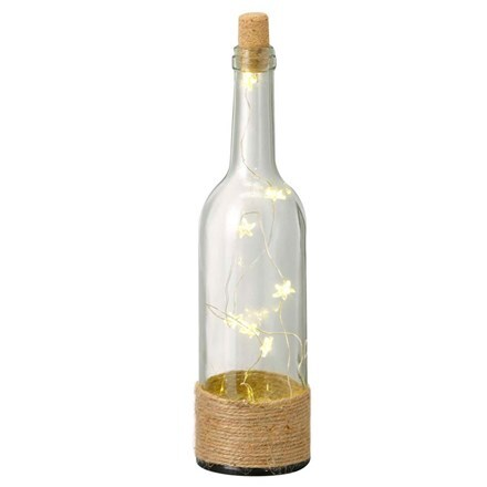 Glass LED starfish bottle - 3 colours