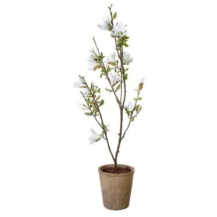 Artificial magnolia potted