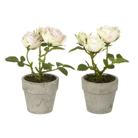 Artificial rose potted