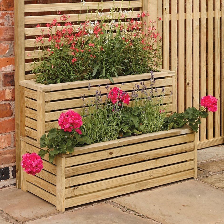 buy garden creations outdoor tiered planter delivery by crocus. Black Bedroom Furniture Sets. Home Design Ideas
