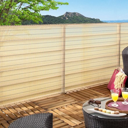 Decorative woven privacy screen