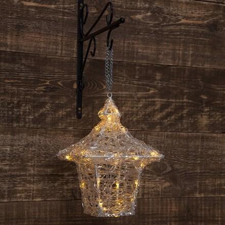 Hanging acrylic LED lantern