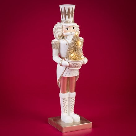 LED nutcracker figurine