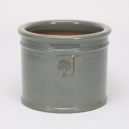 RHS glazed antique grey cylinder