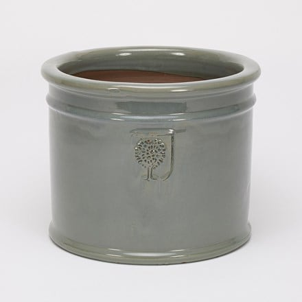 RHS glazed antique grey cylinder