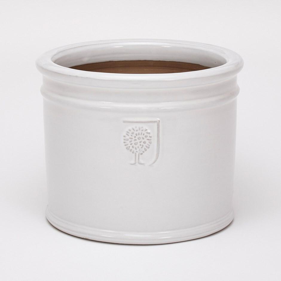 RHS glazed white cylinder