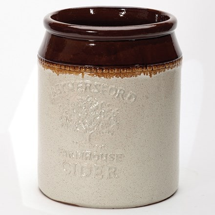 Glazed cider jar