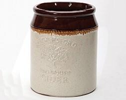 Glazed cider jar