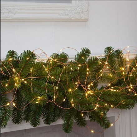 Copper wire light chains LED
