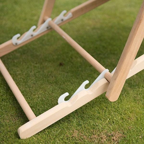 Garden deck chair - taupe