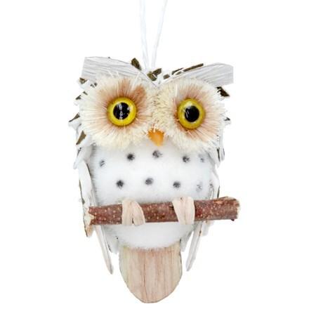 Natural/cone owl decoration