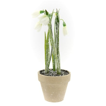 Artificial potted snowdrop