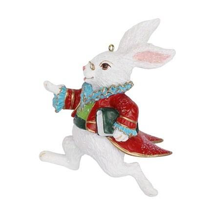 Resin white rabbit decoration